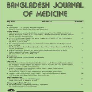 Bangladesh Journal of Medicine Volume-28, Noumber-2, July 2017