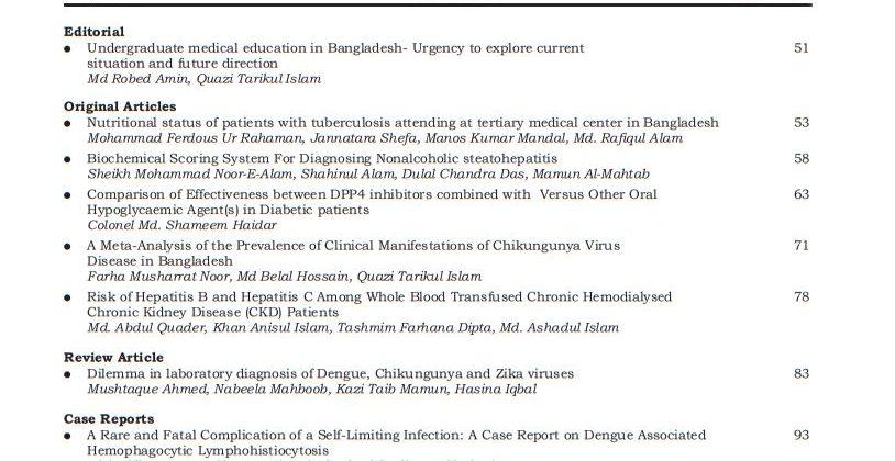 Bangladesh Journal of Medicine Volume-30, Noumber-2, July 2019