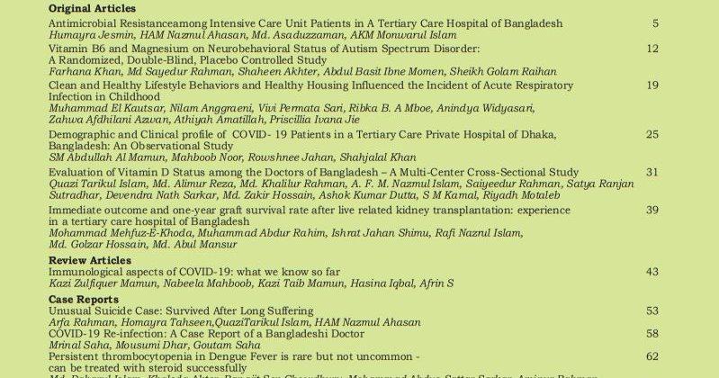 Bangladesh Journal of Medicine Volume-32, Noumber-1, January 2021
